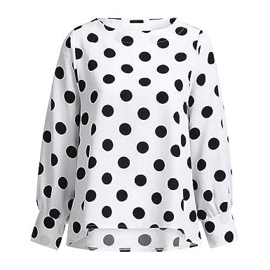 Camiseta Basica Mujer Casual Sudadera Manga Larga Otoño Cuello Redondo Blusa Fiesta Mujer Camisa Oficina Suelto