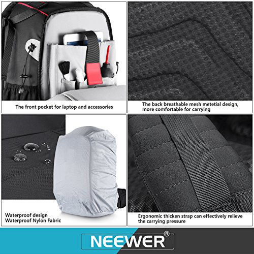 61fubGOK%2BPL - Neewer Pro Camera Case Waterproof Shockproof Adjustable Padded Camera Backpack Bag with Anti-theft Combination Lock for DSLR,DJI Phantom 1 2 3 Professional Drone Tripods Flash Lens and Other Accessory
