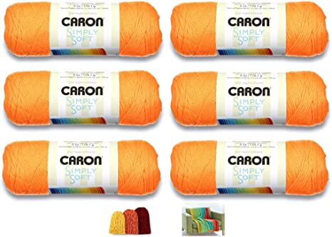Caron Simply Soft Solids Yarn-Neon Orange