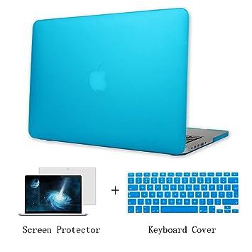 Batianda Funda Dura Carcasa para Viejo MacBook Air 13 pulgadas A1466 A1369 Modelo & Cubierta del Teclado & Protector de Pantalla,Cielo Azul