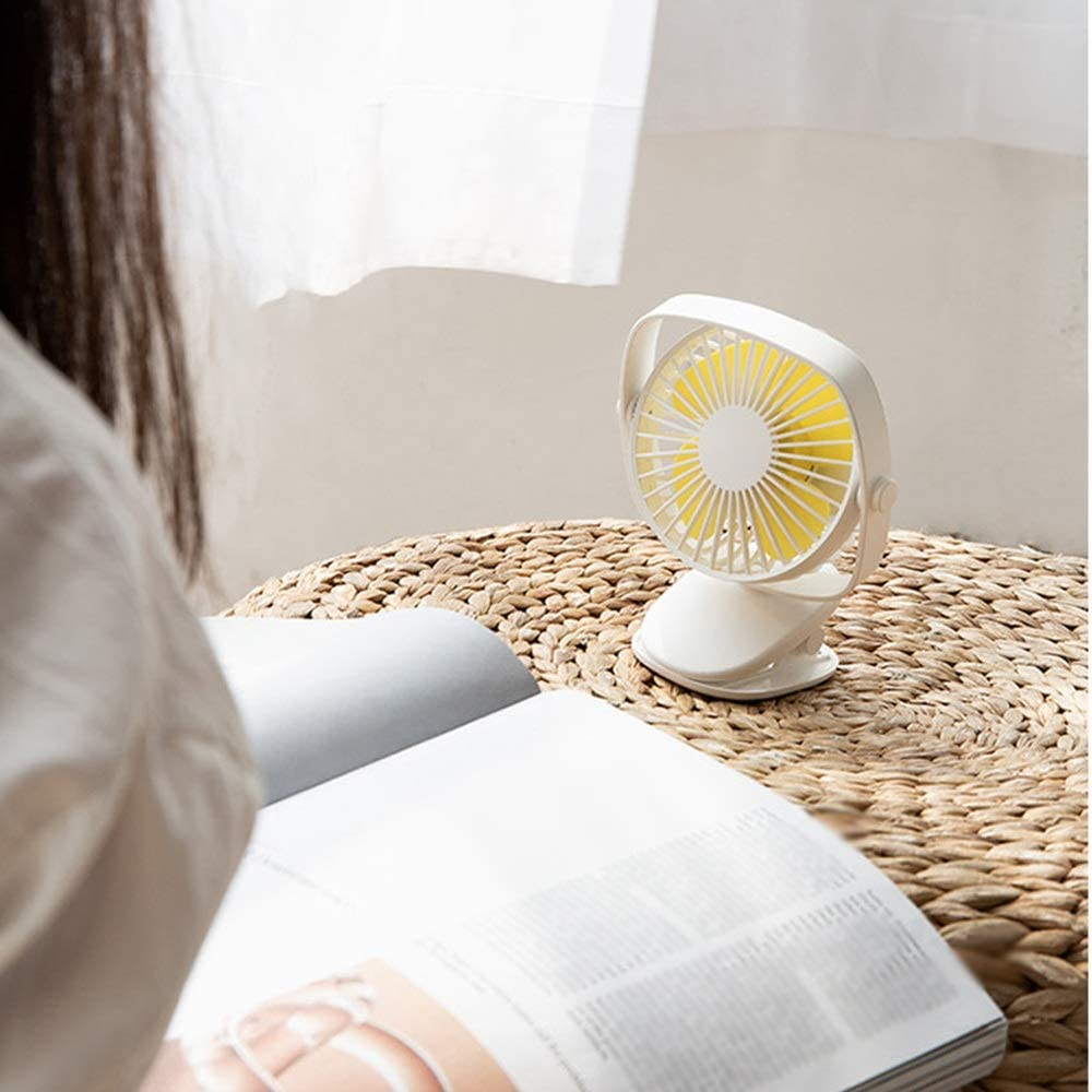 131X158.5mm Color : C TY BEI Clip Fan Mini Mute Desktop Desktop Small Fan Baby Stroller Student Dormitory USB Charging Fan