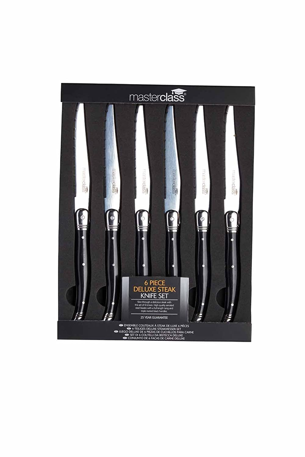 Amazon.com: Masterclass Deluxe Stainless Steel STEAK KNIFE ...