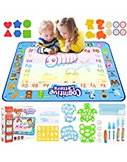 Aqua Doodle Mat, Extra Large Magic Doodle Mat Water Drawing Mat Learning Toys Gifts for Kids Toddlers Baby Girls Boys 2 3 4 5 6 Years Old