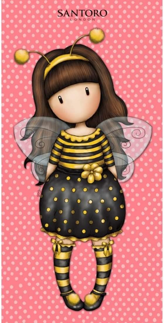 Halantex 150 x 75 cm GOR8828T Multicolor Santoro para ni/ña Ape Just Bee-Cause toalla playa y ba/ño original oficial
