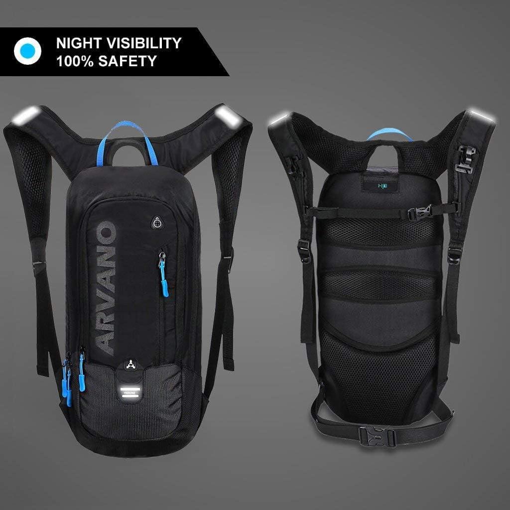 Arvano Mountain Bike Backpack Cycling Backpack – 6L Breathable Hydration Pack Biking Backpack Lightweight Ski Rucksack, Bicycle Backpack for Running Biking Skiing Fits Men Women NO Water Bladder