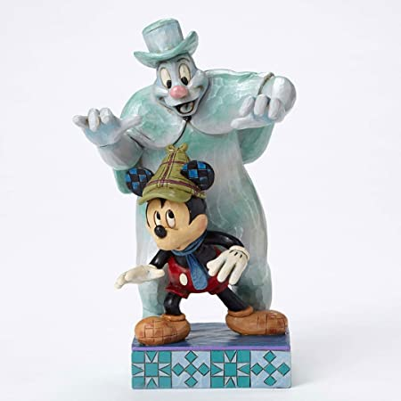 Disney Traditions by Jim Shore Lonesome Ghost and Mickey Mouse Stone Resin Figurine, 7