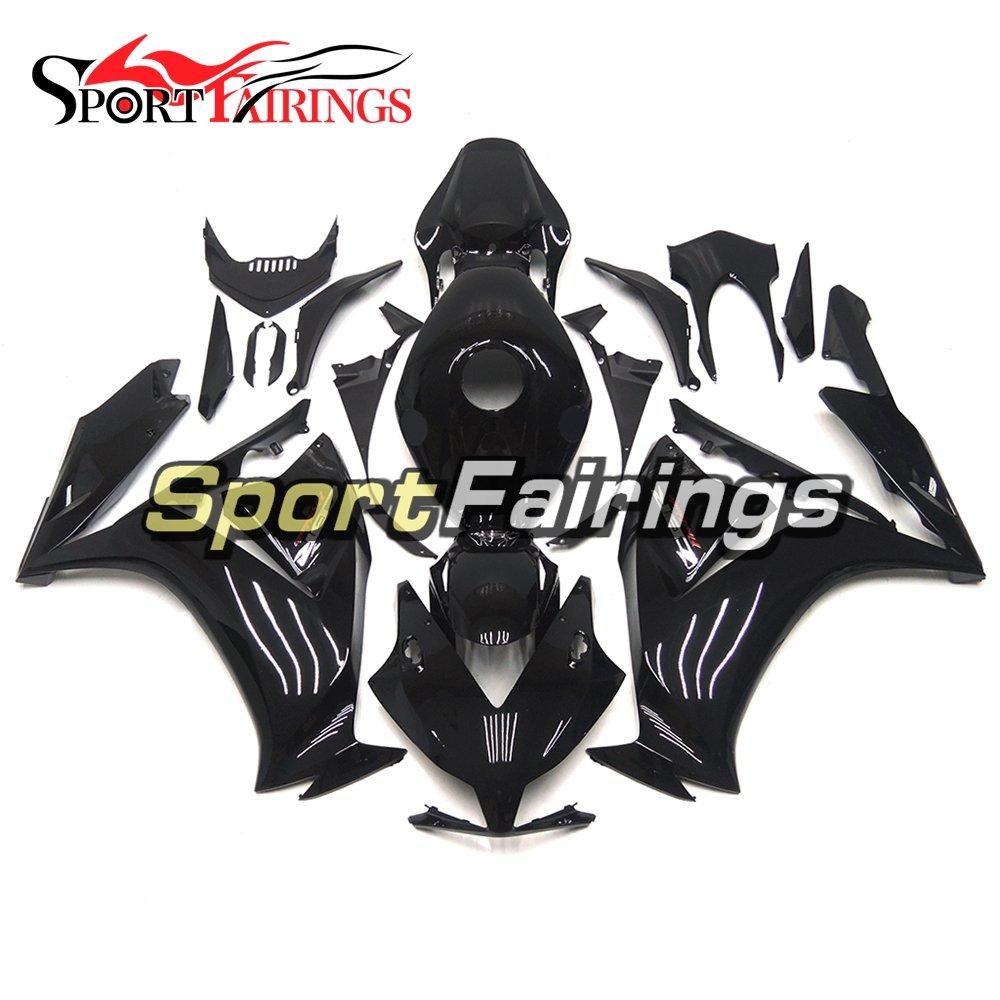SPMOTO外装部品用適合モデルプラスチック製ABSインジェクションオートバイフェアリングキットホンダホンダCBR 1000 RR Year 2012 2013 2014 2015グロスブラックボディ   B07C5MB4J5