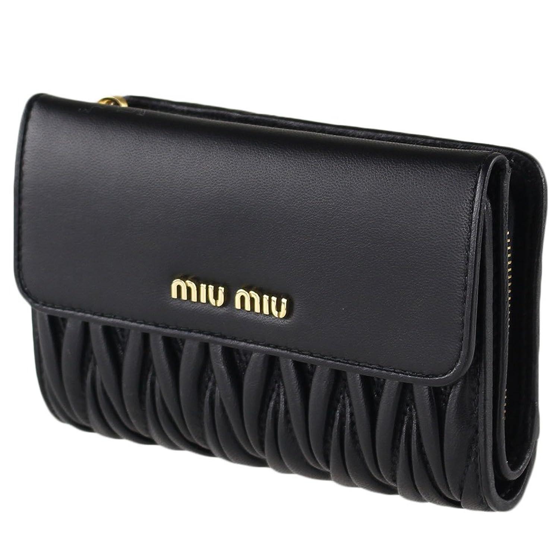 ミュウミュウ MIU MIU レディース 折りたたみ財布 5ML225 2BPU MATELASSE' 1 [並行輸入品] B079K8B468
