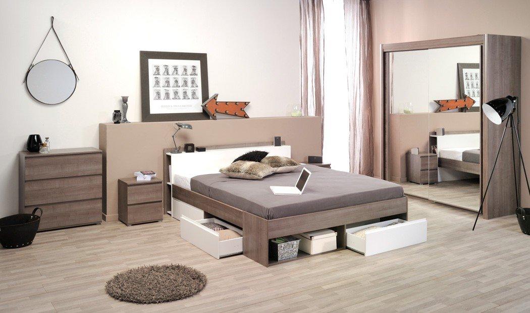 Schlafzimmer Morris 12 Eiche Bett 160x200 Kleiderschrank Kommode