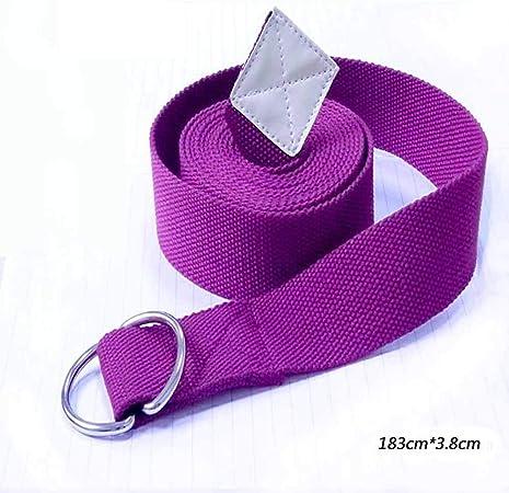 K-DD Cinturon Yoga Correa | Yoga Strap Belt 100% Algodon | Correa de Estiramientos con Hebilla en D para Pilates, Gimnasio Fitness I Ideal para Estiramientos Flexibilidad,Púrpura: Amazon.es: Hogar