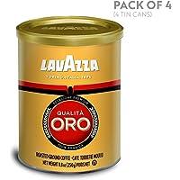 LAVAZZA 乐维萨 Qualita Oro研磨咖啡粉,中度烘焙,8.8盎司罐装(4件装)