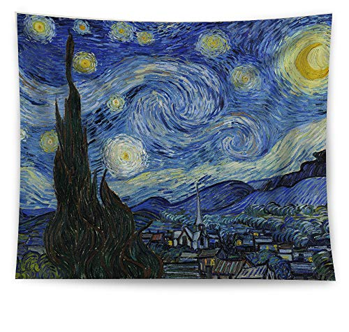 HAOCOO Starry Sky Pattern Wall Hanging Tapestry for Bedroom/Living Room/Dorm Accessories (51 x 60 Inch, Starry Night)