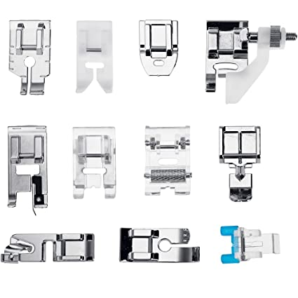 Faburo 11pcs Sewing Machine Presser Feet Set