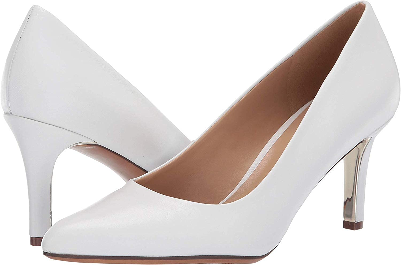 White Leather Naturalizer Natalie Pumps