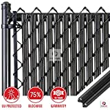 Chain-Link W Shape Bottom Lock Fence Slats (6-ft, Black) Review