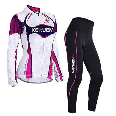 Amazon Com Lserver Womens Cycling Jersey Pants Set 2018 Womens Long