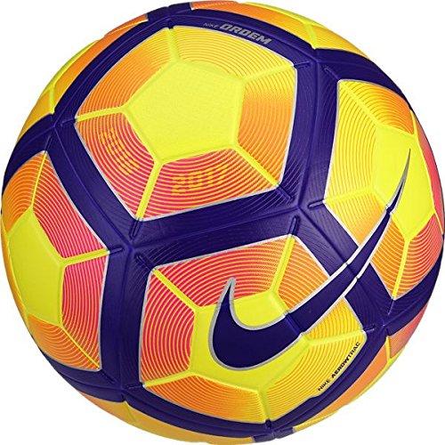 Nike Ordem 4 Official Match Ball - Soccer Ball Yellow/Purple/Black Hi-Vis SC2943-702