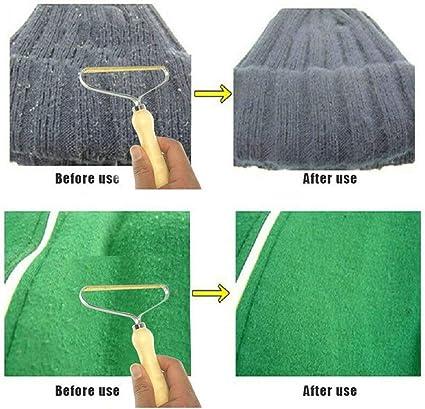 CHOULI Strumento per Spazzola per Rasoio in Tessuto Fuzz per Dispositivo di rimozione lanugine Portatile per Cappotto Maglione Legno