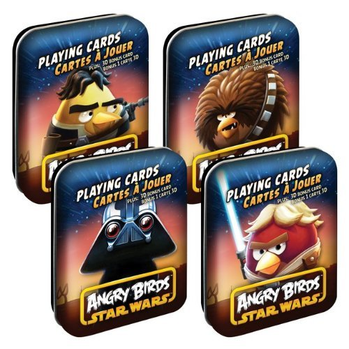 Angry Birds Star Wars Playing Cards Complete Set of 4
