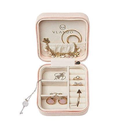 cajas de joyería Joyero portátil princesa joyería coreana europea caja de almacenamiento viajes pequeños pendientes anillo