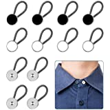 12pcs, Collar Extenders, Comfy & Premium Invisible Neck Extender, Adds 1 in Instantly, Button Extenders for Mens Dress Shirts
