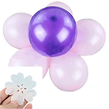Amazon yuelian 20pcs flower shape ballon clips closures balloon yuelian 20pcs flower shape ballon clips closures balloon column kit party accessory wedding supplies junglespirit Image collections