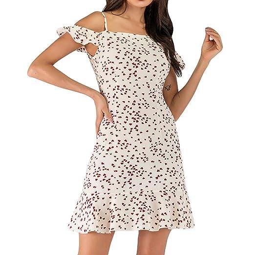 Leadmall Dress Vestido de Camuflaje para Mujer con diseño de ...