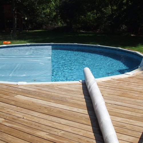 Solar Roller EXTENDS COVER LIFE - Pays for Itself - Rolls Covers in Sections, Like Pieces of a Puzzle, Nothing on Deck!