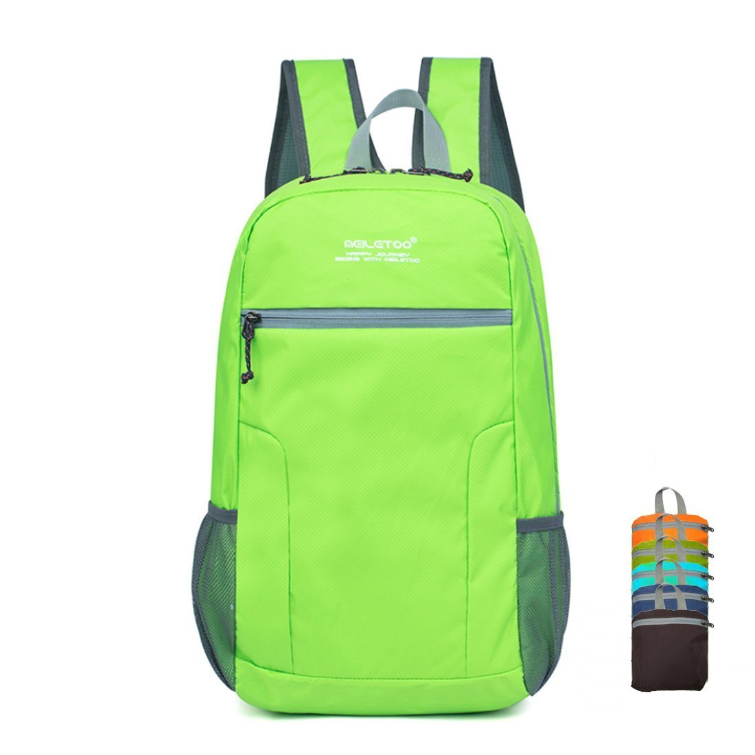 Bagspert Foldable Backpack Lightweight Travel Hiking Daypack 25L Water Resistant Nylon Day Bag Packable in Pouch