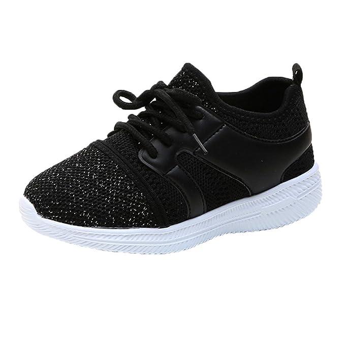YanHoo Zapatillas de Deporte Unisex de Malla Transpirable Zapatos Casuales Zapatos Deportivos para niños Zapatillas niños niños Zapatos Deportivos al Aire ...