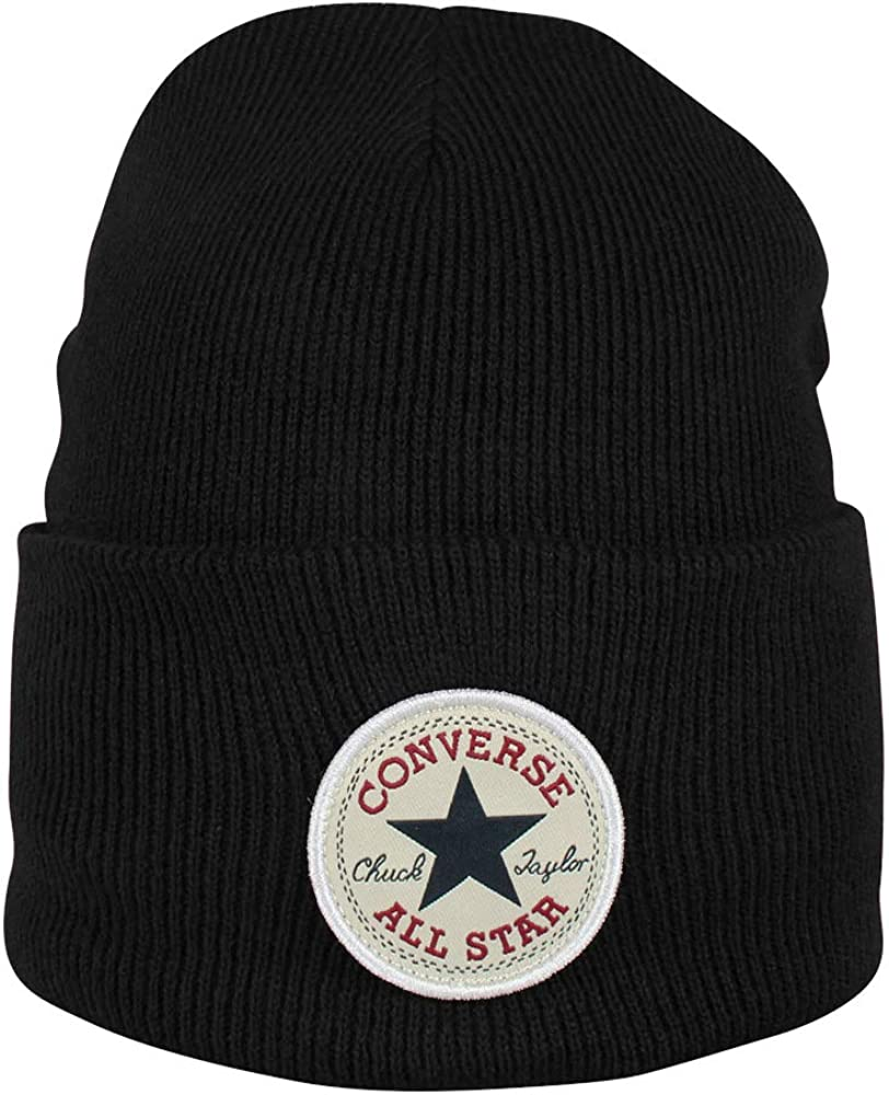 Converse Chuck Patch Tall Beanie - Gorro unisex, color negro ...
