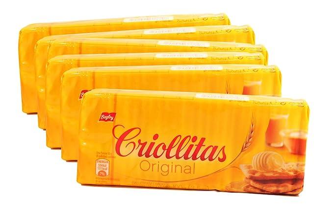 PACK de 6 Galletitas Criollitas de Bagley. Galletas Crackers saladas. 100% Argentinas.