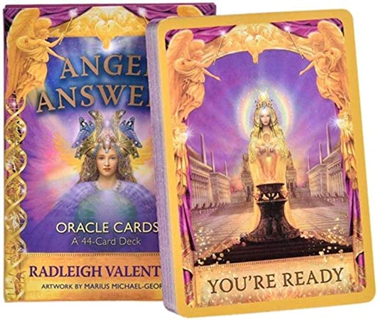 Juego de Mesa de Cartas del Tarot de Light Seer Angel Answers Oracle Cards Family Holiday Party Playing Cards Wizards Deck Tarot, Angel Answers 44pcs: Amazon.es: Hogar