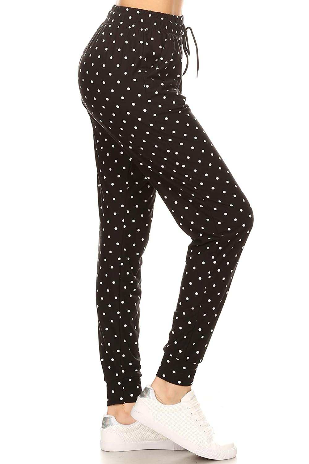 1bf7aaa8c705 Amazon.com: Leggings Depot Premium Jogger Women's Popular Print and Solid  High Waist Track Yoga Full Length Pants(S-XL): Clothing