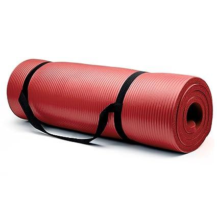 Amazon.com: High Density Extra Thick Padded Yoga Mat - 3/4 ...