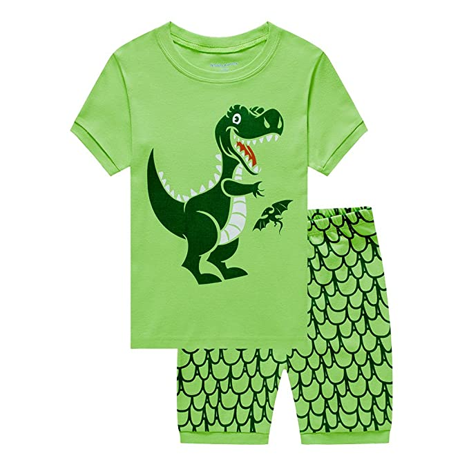 e68e1a9df914 Image Unavailable. Image not available for. Color  Meteora Boys Short  Pajamas Toddler Kids Sleepwear Summer Clothes Shirts ...