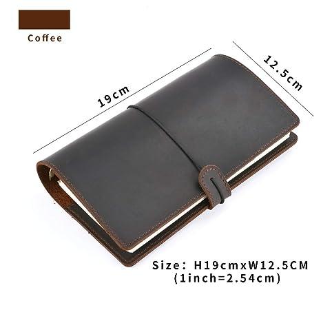 Amazon.com: Cuaderno diario de piel vintage hecho a mano A5 ...