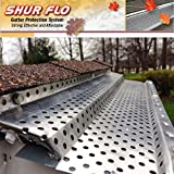 (200 feet) Shur Flo Step-Down Leaf Guard Gutter Protector for 6'' K-Style Gutters. Mill Finish Aluminum. 50 panels x 4.00' each.