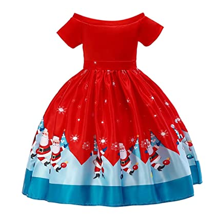 395b97070 Amazon.com  Little Girl Princess Christmas Dress