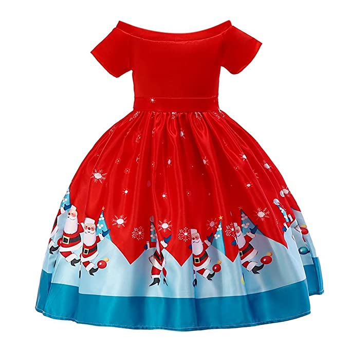 Christmas Toddler Baby Girls Kids Party Red Paillette Tutu Dresses Xmas Gift