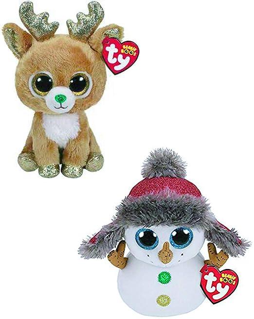 Amazon.com  TY Buttons   Glitzy - 2 pc Christmas Set  Toys   Games 8592f68b929a