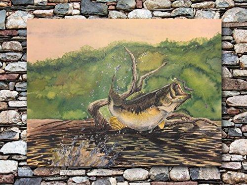 Largemouth Bass Watercolor Painting and Fish Print | Fish Art by BrushTones | Largemouth Bass Fishing Artwork | Fish Wall Art Prints | Wildlife Artwork of Bass |