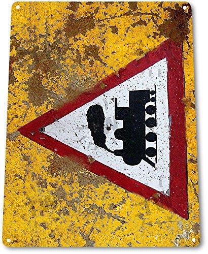 """TIN SIGN """"Train Warning"""