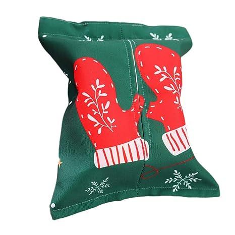 BESTOYARD Caja de pañuelos navideños Porta servilleta dispensador Regalo de decoración de Navidad Creativo