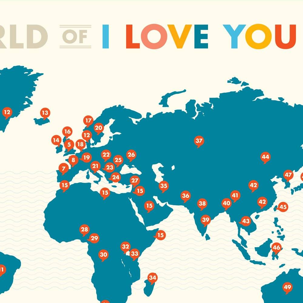 A World of I Love You Poster by Curious Charts (Image #1)