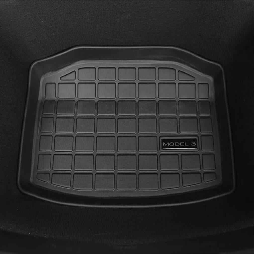 Car Rear Trunk Storage Mat Cargo Tray Trunk Rear Cargo Liner Storage Mat Floor Mat All Weather Trunk Protection for Tesla Model 3 Lesgos Tesla Model 3 Trunk Mats Trunk Storage Mat