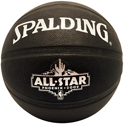 Spalding NBA All Star Game Phoenix 09 Black Leather Basketball - Nba All Star Basketball Game