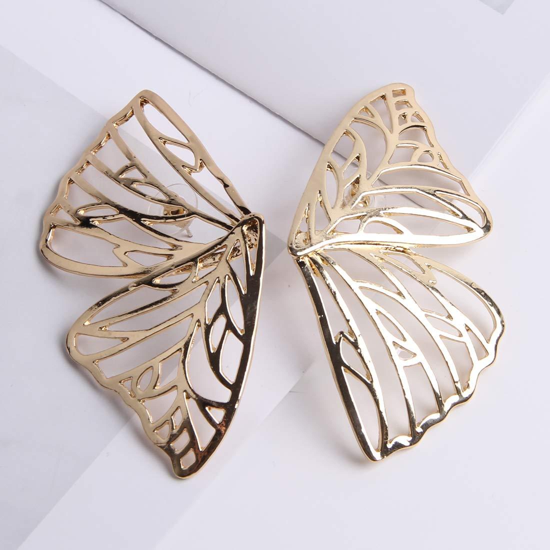YESLADY Butterfly Hollow Earring Women Large Stud Earrings