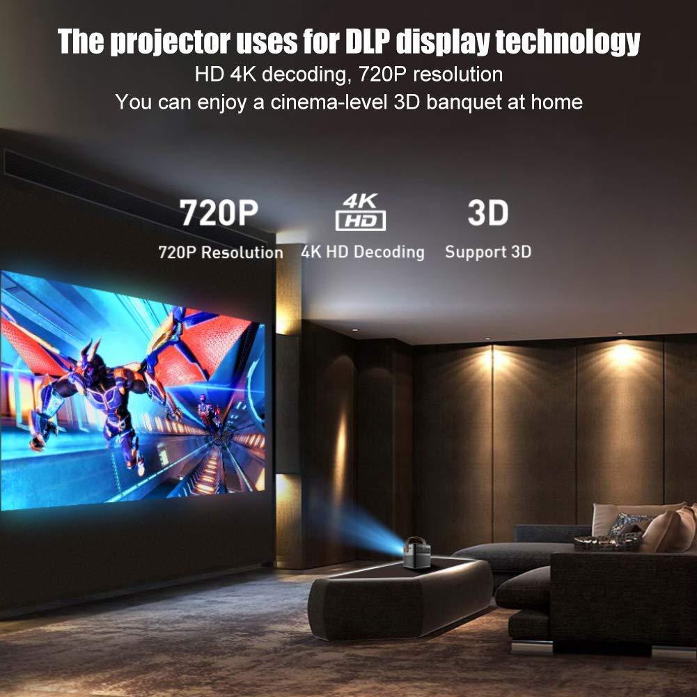 Proyector, Mini Proyector 1280 * 720P 2G16G 3D 4K LED, Para Stick ...