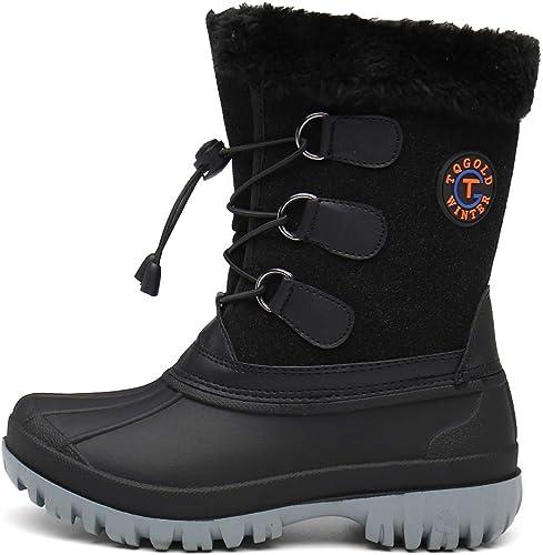 Kids Snow Boots Waterproof Boys Girls